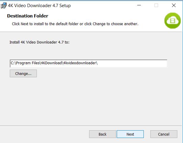 تثبيت برنامج 4K Video Downloader