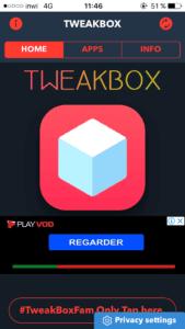 متجر Tweakbox لتحميل التطبيقات المكركة