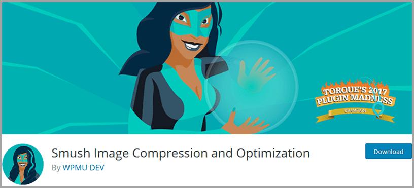 شرح إضافة smush image compression and optimization