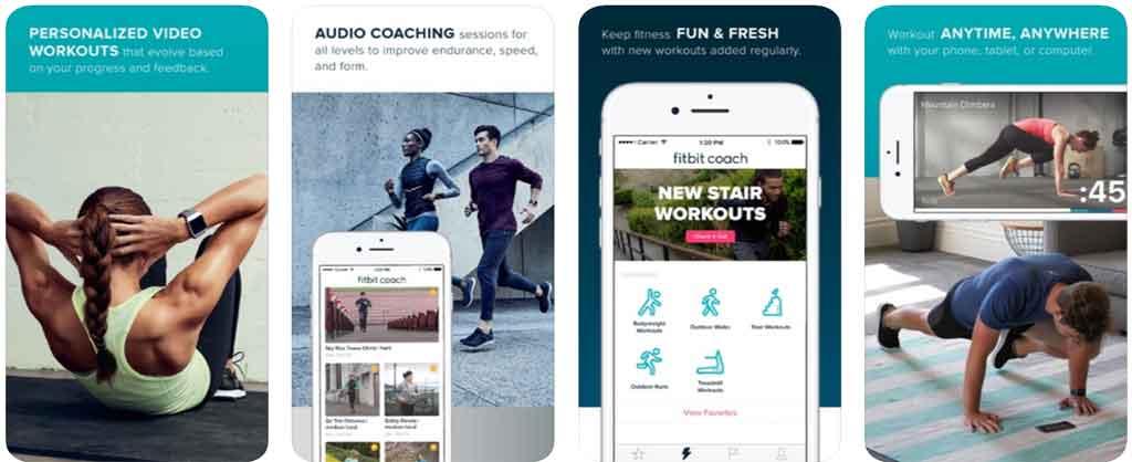 Fitbit Coach تطبيقات الرياضة
