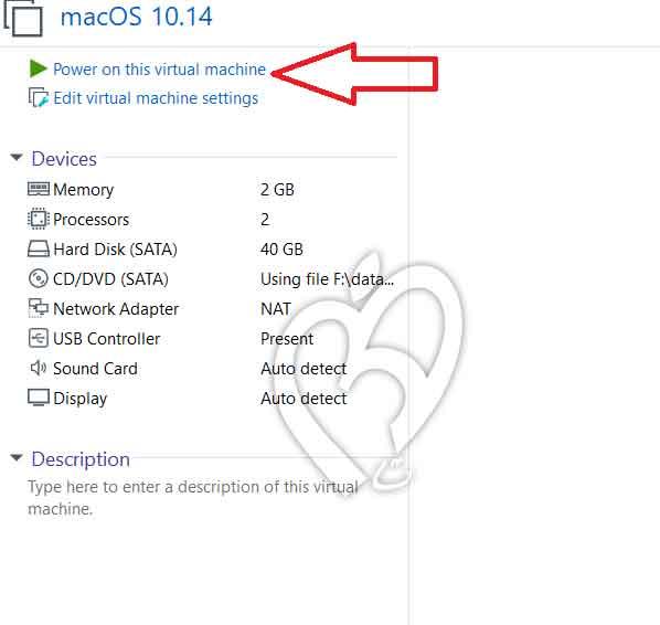 تشغيل ماك على VMware