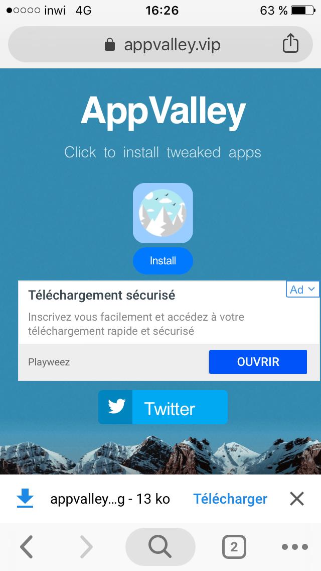 كيفية تحميل و تركيب تطبيقات على أجهزة iOS بإستعمال AppValley - تعلم معي