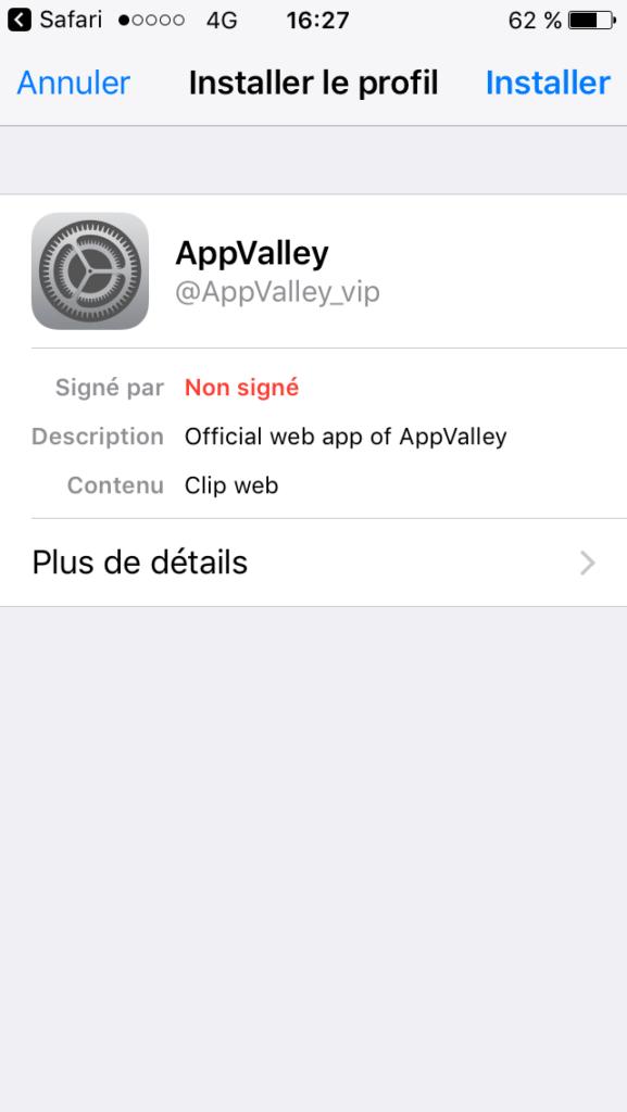 تفعيل متجر AppValley على الايفون