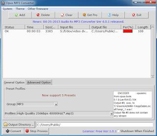 برنامج opus to mp3 convert