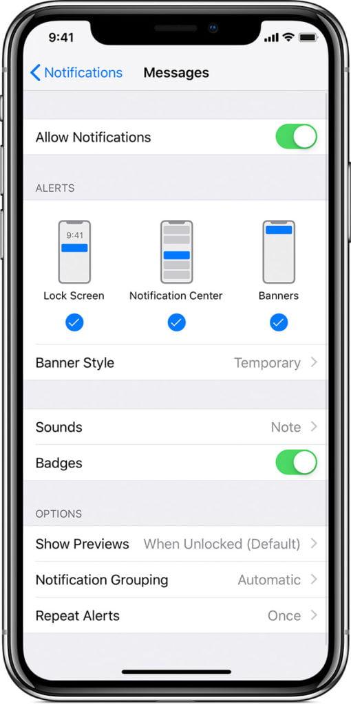 إصلاح إشعارات تطبيق الفيسبوك على أجهزة iOS 12