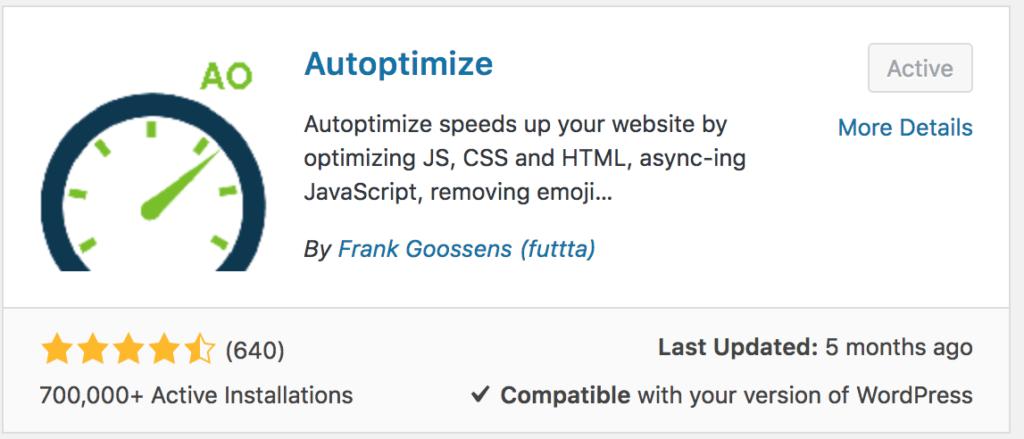 شرج إضافة Autoptimize على ووردبريس