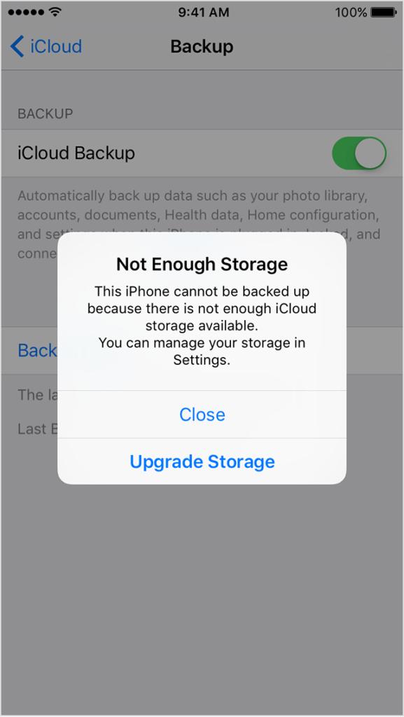 مساحة إضافية بأجهزة iOS