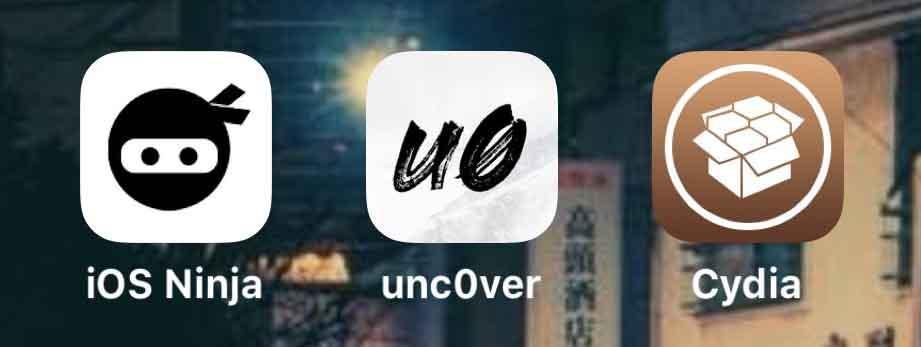 جلبريك unc0ver باسعمال iOS Ninja
