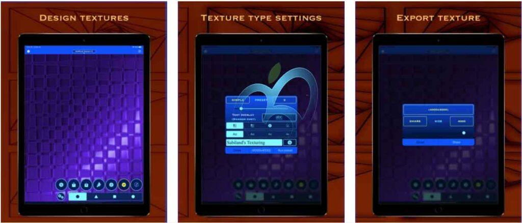 تطبيقات iOS مجانية Texturing